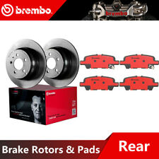 Brembo Rear Brake Rotors & Ceramic Brake Pads For 2010-2018 Nissan Altima