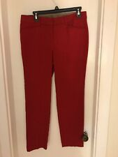 NWT Women's Rafaela Chilli Powder Red Slim Ankle Pants Size 10