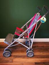 Maclaren Major Elite Special Needs buggy pushchair - red / grey