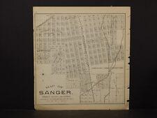 California, Fresno County Map, 1891, Sanger, Double Sided, !K2#51