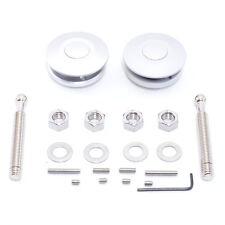 Aero Quick Lock Haubenhalter Alu - Motorhaube Schnellverschluss Silber