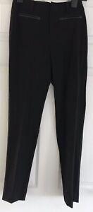 Girls 12 Years Black Dress Trouser Faux Leather Pocket Detail School