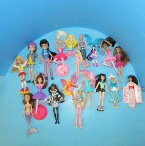 Vtg & Modern Lot of 19 Mini Dolls/Mcdonalds Toys Barbie My Scene Winx Club L@@K