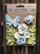Prima Flowers Set. Includes Flowers, Leaves And Butterfly.