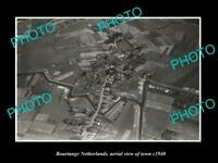 OLD LARGE HISTORIC PHOTO BOURTANGE NETHERLANDS HOLLAND TOWN AERIAL VIEW c1940