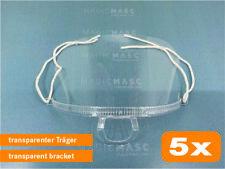 Mund Nasen Visier transparent Gesichtsmaske Gesichtsschutz Schutzvisier 5x