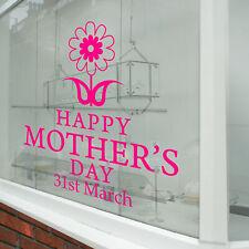 Día de la Madre Pared & Ventana Pegatinas Mamá Calcomanías Tienda Pantalla A344