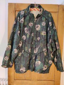 "VTG 90s Y2K Reebok Large Oversized Green Jacket XL Zip Up 18 20 50"""