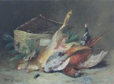 Gaussen Adolphe - Gibier - Huile sur toile marouflée sur panneau v49