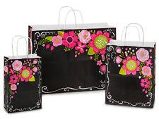 125 Chalkboard Flowers Assortment 50 Rose, 50 Cub & 25 Vogue Paper Gift Bags