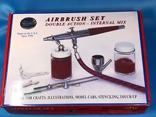 Paasch Airbrush Set Double Action - Internal Mix Siphon Feed