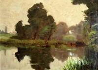 20th Century FRENCH MASTER IMPRESSIONIST Landscape Indistinctly Signed