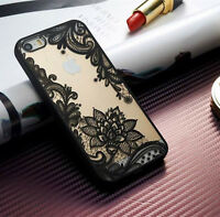 Ultra-thin Clear Silicone Flower Patterned Case Cover For Apple iPhone 7 6s Plus