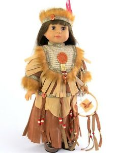 """Native Indian Costume Dreamcatcher for American Girl 18"""" Doll Clothes LOVV 🐞"""