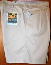 NEW/tags Cherokee Khaki Shorts sz.46~Pleated~100%Cotton~Liq.Stain.Wrinkle Resist