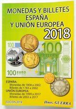 NOVEDAD CATALOGO MONEDAS Y BILLETES ESPAÑA 2018 INCLUYE EUROS EXT Y BILLETES