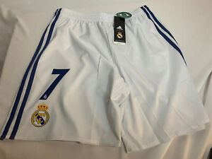 adidas REAL MADRID 2016/17 HOME Shorts Men's Medium with #7 Printing