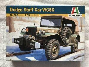 Italeri 1/35 Dodge Staff Car WC56 plastic model kit 228