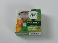 Ball Regular Mouth Canning Mason Jar Lids 12-Pieces per Pack (1-Pack) NEW Sealed