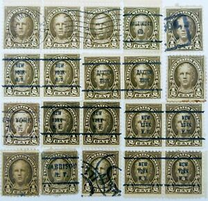 Group of 20 – Nathan Hale 1/2 Cent Stamps - 1925