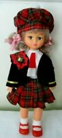 Playmates 1980's doll with Scottish Costume ~Blonde hair, complete outfit