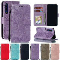 For Xiaomi Mi 9 8/Redmi GO Note 7 Lace Flip Stand Card Wallet Leather Case Cover