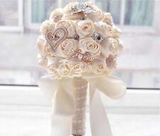 Artificial Bridal Rose Bouquet Fake Wedding Bridesmaid Flowers Party Decoration