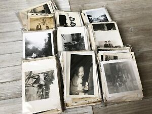 BLURRY Vintage Photos LOT of 100 Random B&W Snapshots Old Photos