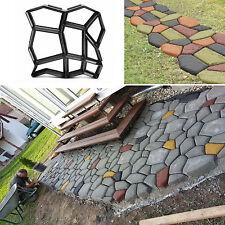 DIY Driveway Path Maker Mold Concrete Stone Design Paver Garden Lawn Stone Mold