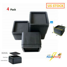 4Pcs 2 Inch Heavy Duty Black Square stackable Bed Risers Furniture Sofa Lifters
