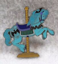 Disney Parks Carousel Kingdom Haunted Mansion Bat Ghost Horse Pin