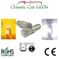 2x BA15D 381 DUAL WHITE & AMBER SIDELIGHT INDICATOR COMBINED LED POSITIVE EARTH