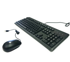 Hp USB Keyboard+Mouse Original in Set Pc Mouse + Keyboard Qwerty Layout UK
