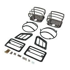 Euro Light Guard Kit Black Chrome Jeep Wrangler TJ LJ 11180.05 Rugged Ridge