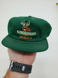 Vintage BuckMasters Member Hat Made In USA Green K- Products Snapback Hat Cap