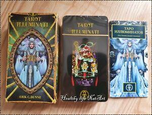 Карты Таро Иллюминатов Tarot cards Illuminati made EU Russian manual