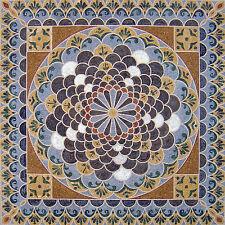 "100"" Handmade Marble Mosaic Floral Floor Rug Carpet Design Home Art  Decor"
