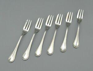6 Kuchengabeln Silber 800
