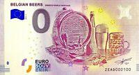 BILLET 0  EURO  BELGIAN BEERS UNESCO WORLD HERITAGE BELGIQUE 2018  NUMERO 100