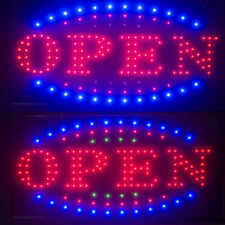 Usa Visible Led Light Flash Motion Business Open Sign Chain Switch 25x48 Indoor