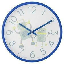 Brand New Acctim Royal Blue Robot Childrens Bedroom Quartz 12hr Wall Clock