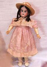 "22"" Antique Doll - Floradora - Blue Eyes - Human Hair Wig - Composition Body"
