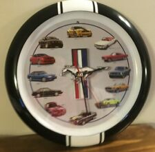 WALL CLOCK Vintage Looking Ford Mustang  Collection Cars & Sounds