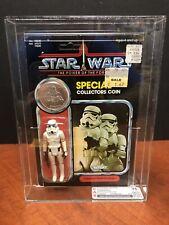 1984 Star Wars POTF 92 Back-A Stormtrooper Unpunched Clear Bubble CAS 75 EM3570