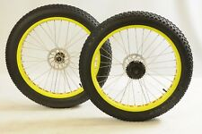 "26"" (559) ""FAT MAN BIKE"" DISC WHEELS COMPLETE WITH TYRES & TUBES 8 SPEED"