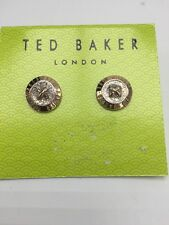 $59 Ted Baker Large Button Earrings Rose Gold Tone A212