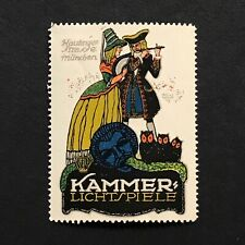 Poster Stamp * Germany * Kammer Lichtspiele Theater Light Show • Cinderella