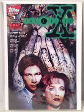 Topps Comic Book #1 X-Files 1995 1st Print Fox Mulder Dana Scully NM Green Logo