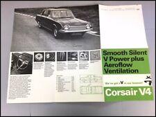 1966 Ford Corsair V4 GT Original Car Sales Brochure Catalog