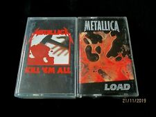 METALLICA 2 CASSETTE TAPES LOAD/KIL EM' ALL93/96 VG CON
